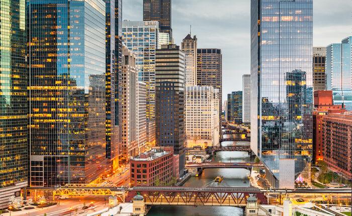 Chicago Condo Buildings Along the River